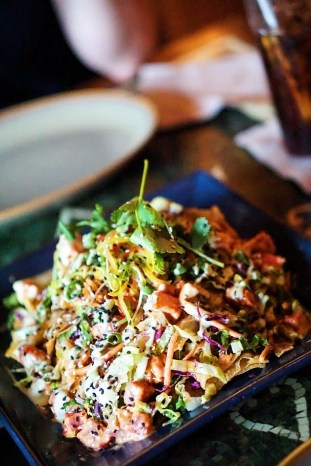 Ahi Tuna Nachos from Yak and Yeti